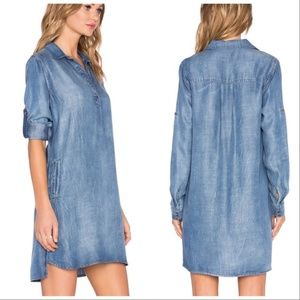 Anthropologie Bella Dahl Chambray Tunic Dress